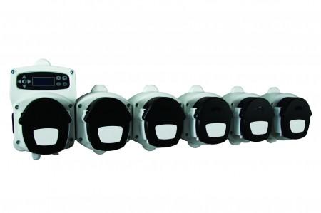 6 pump industrial laundry dosing system