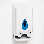 Twin toilet roll dispenser from Brightwell Dispensers