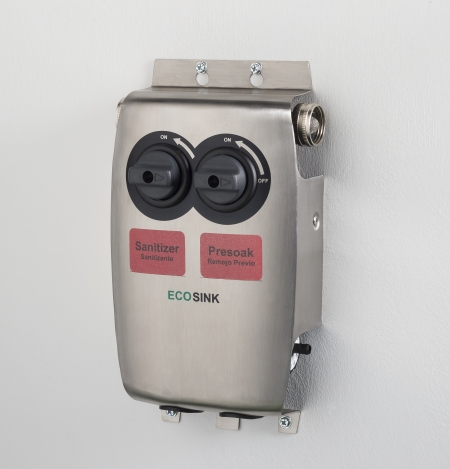 ECOSINK 2 Chemical Dispenser with labels