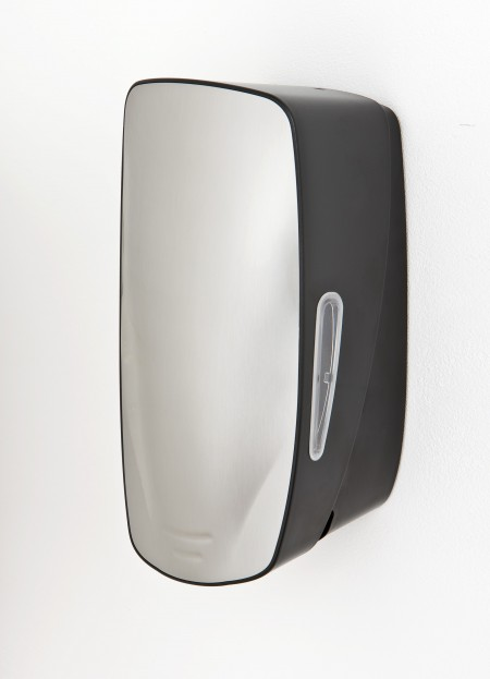 Mercury soap dispenser with stainless steel finish