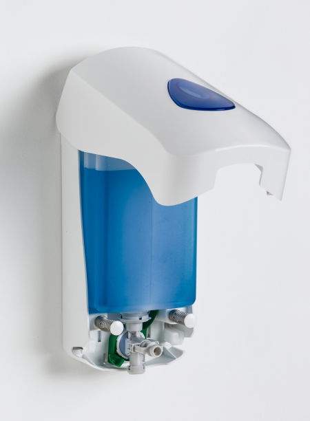 Open MultiFlex soap dispenser with Modular cover